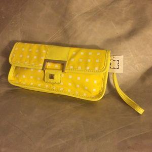 Liz Claiborne Yellow Citrus Heritage Wristlet